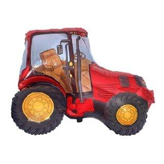 Luftballon Traktor Rot Folie 94cm