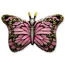 Luftballon Schmetterling Rosa Folie 95cm