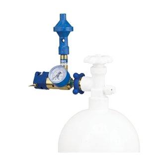 Helium-Druckventil mit Luftbeimischung 60-40 und Manometer Conwin