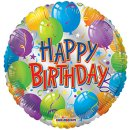 Luftballon Happy Birthday Ballons Folie ø46cm