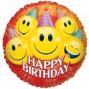 Folienballon HAPPY BIRTHDAY Smiles JUMBO 91,4 cm ungefüllt