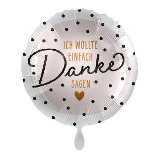 Folienballon ICH WOLLTE EINFACH Danke SAGEN ø45 cm
