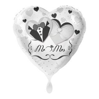 Luftballon Mr & Mrs Brautpaar Folie ø45cm