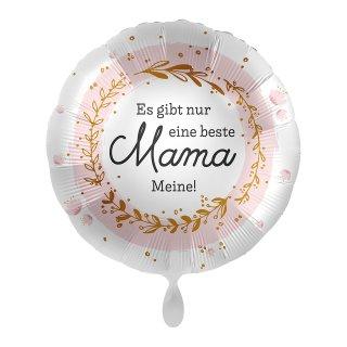 Luftballon Es gibt nur eine beste Mama Meine Folie ø45cm