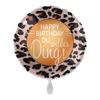 Luftballon Happy Birthday Du wildes Ding Folie ø43cm