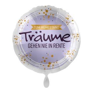 Luftballon Zum Ruhestand Träume gehen nicht in Rente Folie ø45cm
