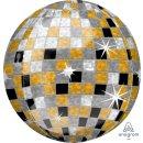 Luftballon Discokugel Orbz kugelrund Folie ø40cm