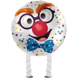 Luftballon Clown Air-Walker Folie ø45cm
