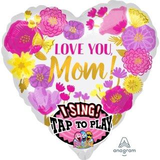 Singender Luftballon Love you mom Folie ø71cm
