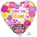 Singender Luftballon Love you mom Folie ø71cm