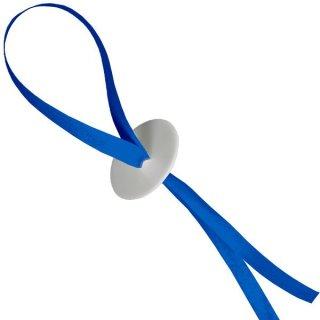 10 Ballonverschlüsse Poly-Fix Blau mit Band ca 120cm