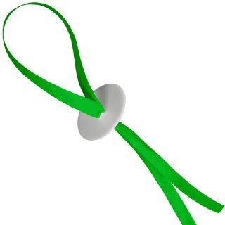 10 Ballonverschlüsse Poly-Fix Grün mit Band ca 120cm