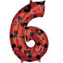 Luftballon Zahl 6 Mickey Maus Folie 66cm