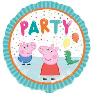 Luftballon Peppa Pig Party Folie ø43cm