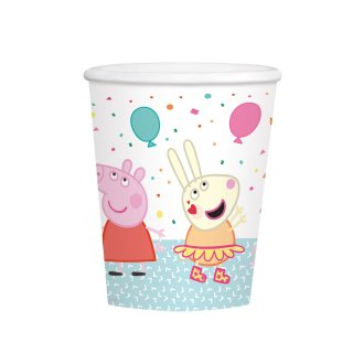 8 Becher Peppa Pig Papier 250 ml