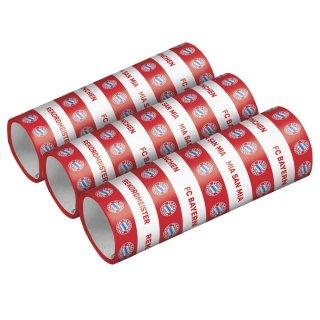 3 Luftschlangen FC Bayern München Papier 1,4 x 400cm