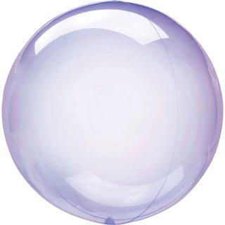 Folien-Kugelballon Violett Crystal Clearz ø56cm verpackt ungefüllt