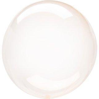 Luftballon Orange Crystal Clearz Folie ø56cm