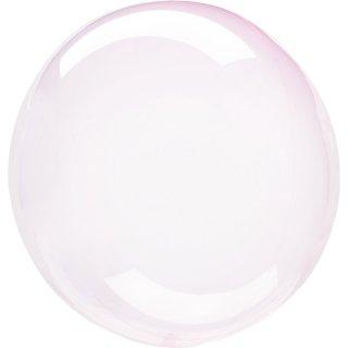 Luftballon Rosa Crystal Clearz Folie ø56cm