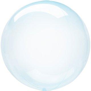 Luftballon Blau Crystal Clearz kugelrund Folie ø56cm