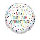 Luftballon Alles Gute zum Geburtstag Konfetti Folie...