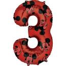 Luftballon Zahl 3 Mickey Maus Folie 66cm