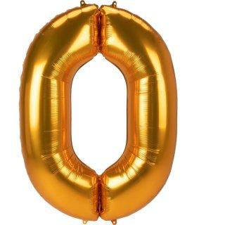 Luftballon Zahl 0 Gold Folie ca 134cm