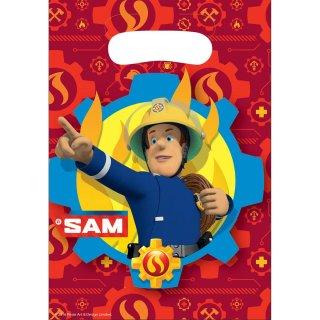 8 Partytüten Feuerwehrmann Sam - 2017 Plastik 23,4 x 16,2 cm