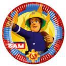 8 Teller Feuerwehrmann Sam Papier 22,8cm