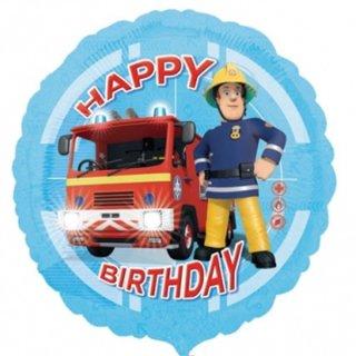 Luftballon Feuerwehrmann Sam Happy Birthday Folie ø43cm