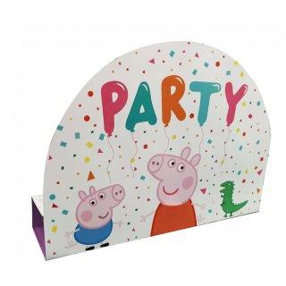 8 Einladungskarten Peppa Pig Papier