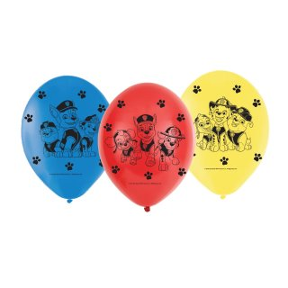 6 Luftballons Paw Patrol ø23cm