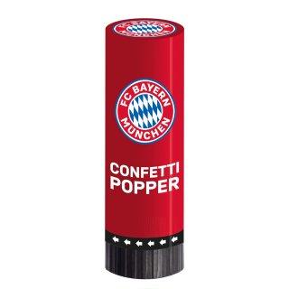 2 Konfetti-Popper FC Bayern München 4,4 x 15,2 cm