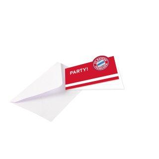 8 Einladungskarten FC Bayern München