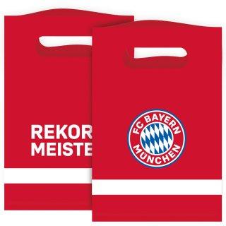 8 Partytüten FC Bayern München Papier 15,8 x 23,6cm