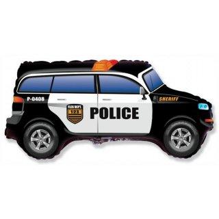 Luftballon Polizeiauto Sheriff Folie 86cm