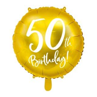 Luftballon Zahl 50 Birthday Gold Folie ø45cm