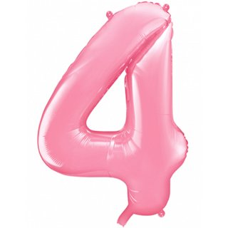 Luftballon Zahl 4 Rosa Folie ca 86cm