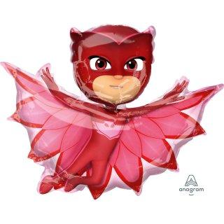 Luftballon PJ Masks Owlette Rot Folie 83cm