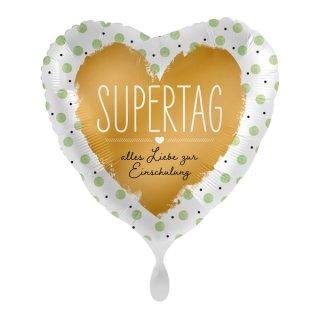 Luftballon Supertag Alles Liebe zur Einschulung Folie ø43cm