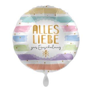 Luftballon Alles Liebe zur Einschulung Folie ø43cm
