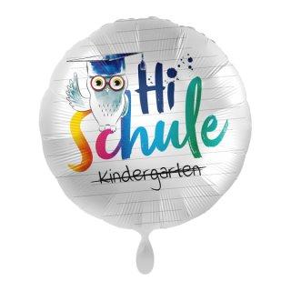 Luftballon Hi Schule Eule Folie ø43cm