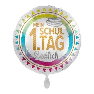 Luftballon Mein 1 Schultag Endlich Folie ø43cm