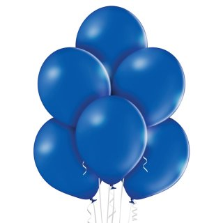 8 Luftballons Blau-Königsblau Pastel ø30cm