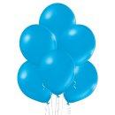 8 Luftballons Blau-Cyan Metallic ø30cm