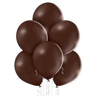 8 Luftballons Braun-Kakaobraun Pastell ø30cm
