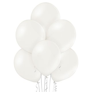 8 Luftballons Weiß Metallic ø30cm