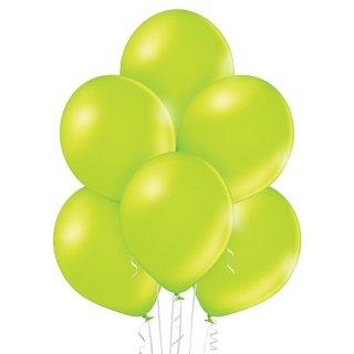 8 Luftballons Grün-Apfelgrün Metallic ø30cm