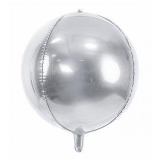 Luftballon Silber kugelrund Folie ø40cm