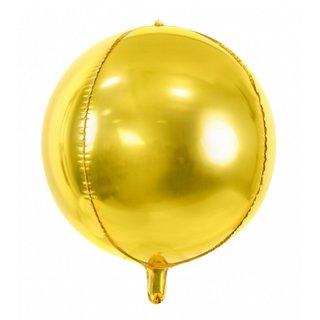 Luftballon Gold kugelrund Folie ø40cm